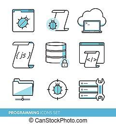 задавать, программирование, icons