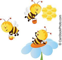 задавать, пчела