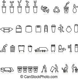 задавать, свалка, контур, мусор, icons, мусор