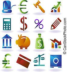 задавать, цвет, значок, банковское дело