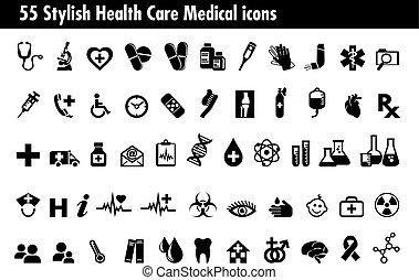 задавать, icons, 55, медицинская, healthcare, стильный