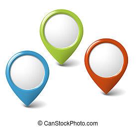 задавать, pointers, круглый, содержание, место, ваш, 3d