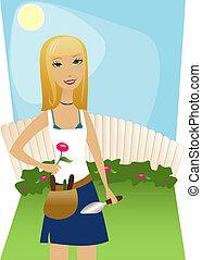 задний двор, садоводство