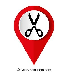 задний план, белый, isolated, символ, scissors