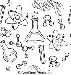 задний план, бесшовный, наука