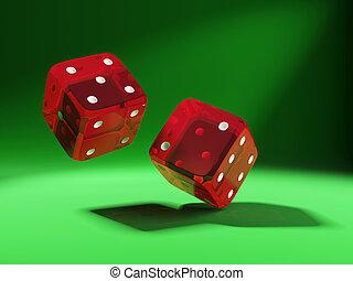 задний план, зеленый, dices, красный