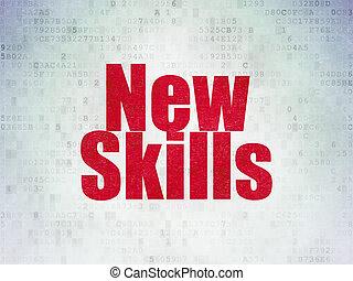 задний план, навыки, бумага, learning, цифровой, новый, concept: