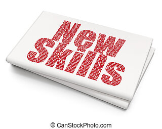 задний план, навыки, learning, пустой, газета, новый, concept: