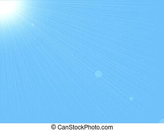 задний план, &, небо, солнце