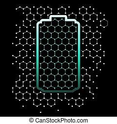 задний план, форма, решетка, graphene