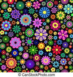 задний план, цветок, черный, красочный