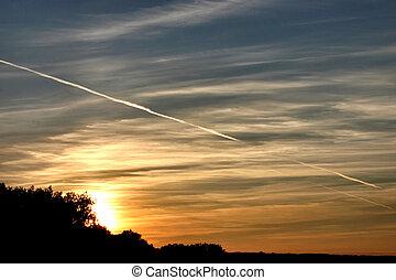 закат солнца, безумно красивая