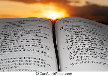 закат солнца, выделенный, clouds, 2., задний план, святой, малахия, библия, открытый, солнце, глава, 4, стих, rays