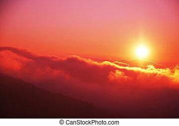 закат солнца, задний план