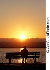 закат солнца, мирное