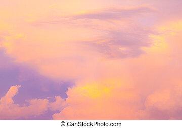 закат солнца, небо, background.