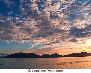 закат солнца, cloudscape.