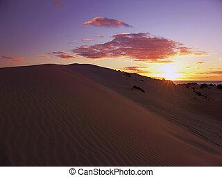 закат солнца, sanddunes
