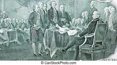 законопроект, доллар, два, независимость, декларация