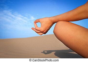 закрыть, медитация, вверх