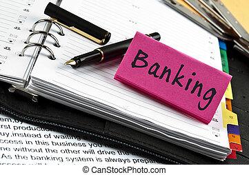 заметка, банковское дело, ручка, повестка дня