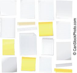 заметка, бумага, вектор, post-it