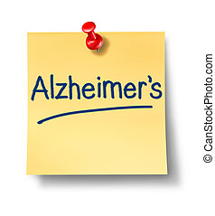 заметка, напоминание, альцгеймер, офис