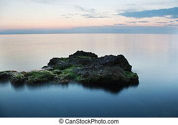 замороженные, море, rocks
