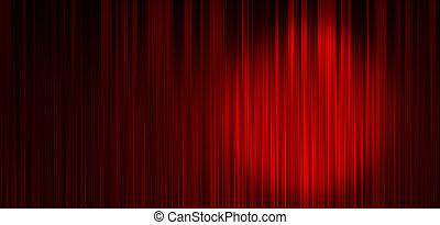 занавес, красный, задний план, сцена