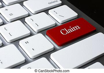 запрос, кнопка, клавиатура, войти, белый, красный