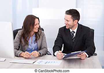 за работой, businesspeople, офис