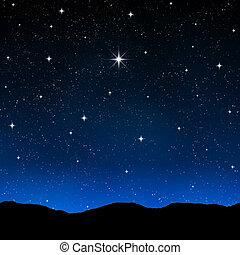звездный, небо, ночь