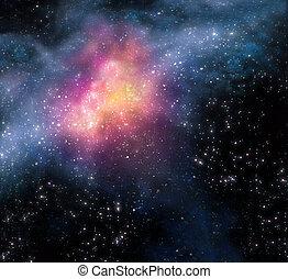 звездный, пространство, задний план, глубоко, outer