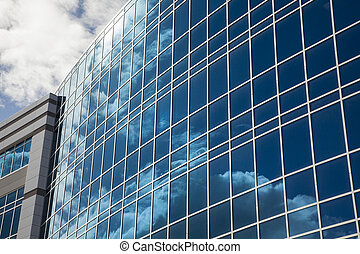 здание, абстрактные, драматичный, корпоративная