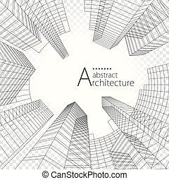здание, архитектура, design., современное, городской