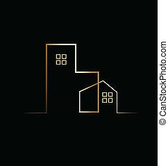 здание, жилой, дом, логотип