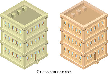 здание, изометрический