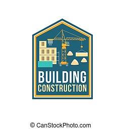 здание, компания, строительство, значок, сайт