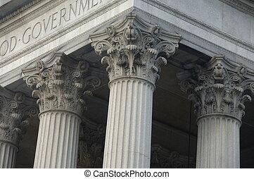 здание, коринфянин, columns, правительство