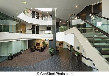 здание, лобби, офис