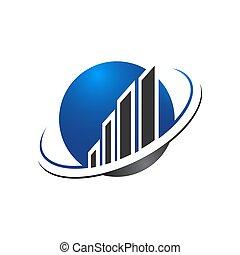 здание, недвижимость, sign., глобальный, земной шар, универсальный, template., планета, вектор, дизайн, недвижимое имущество, логотип, линия, абстрактные, значок