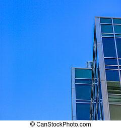 здание, окна, современное, небо, reflected