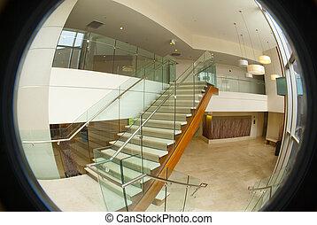 здание, офис, лестница