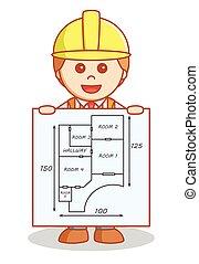 здание, показ, архитектор, план