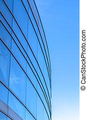 здание, синий, современное, небо, против, яркий, экстерьер