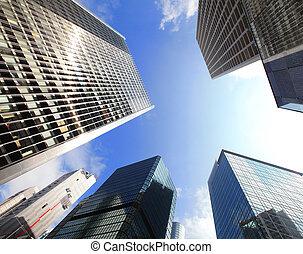 здание, современное, бизнес
