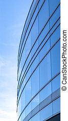 здание, современное, небо, против, яркий, экстерьер