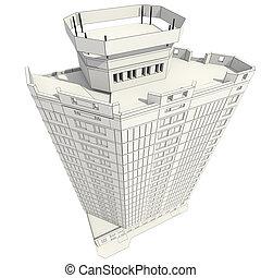 здание, строительство, офис, 3d