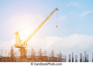 здание, строительство, high-rise, сайт, под