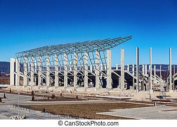 здание, футбол, новый, сайт, стадион, строительство